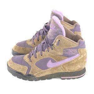 Nike Hiking Boots Womens 7 Purple Brown Vintage